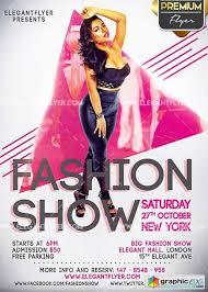 fashion show v2 flyer psd template facebook cover