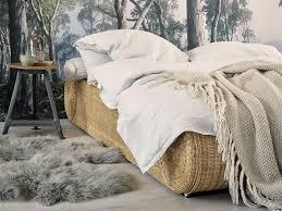 Bett 180x200 Rattan Ehebett Doppelbett Rattanbett Schlafzimmer Möbel
