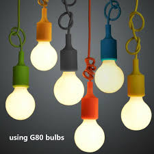 Light Bulb Socket Chandelier Us 2 2 48 Off E27 Hanging Lamp Base Bulb Holder Diy Socket Colorful Silicone Line Chandelier Lighting Point Rubber Ceiling Light Fixture Home In