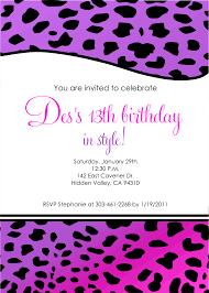 Free 13th Birthday Invitations Free Printable Birthday Invitations For Ladies Download