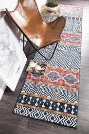 harbor multi colour boho tribal aztec moroccan modern rug runner 80x400cm new