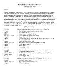 bishop kenny njrotc spring trip itinerary for parents njrotc orientation trip itinerary 26 28 2013parents