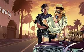 gta 5 wallpaper backgrounds high quality for mobile grand theft auto game police blonde