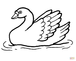 Small Picture Swan in the Water coloring page Free Printable Coloring Pages