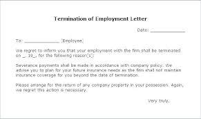 Separation Letter Template Employment Separation Letter