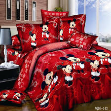 100 cotton mickey mouse single full queen king size bed set home 100 cotton mickey mouse single