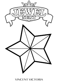 Small Picture Star And Moon Mobile Coloring Page Inside Jewel Coloring Pages