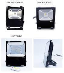 5pcs rgb rgbw wifi led flood light 10w 30w 50w floodlight outdoor lighting lamp refletor foco exterior