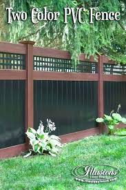 black vinyl privacy fence. Illusions Vinyl Fence Price Picket Panels Cost Incredible Rosewood And Black Privacy