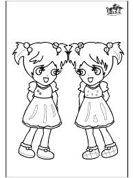 Meisjes 3 Kleurplaat Kinderen