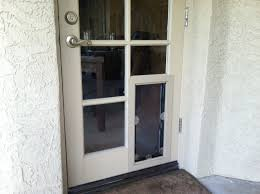 glass exterior door with pet door. french doors with dog door photo - 7 glass exterior pet