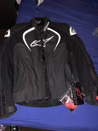 alpinestars jaws black leather jacket