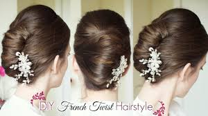 French Twist Hair Style Diy French Twist Updo Holiday Updo Hairstyles 5050 by stevesalt.us
