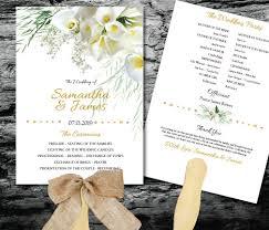 printable program templates calla lily wedding invitations templates invitation