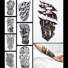 719 8ks Tetování Falešné Stroj Leg Drak ženy Muži Tělo Rukáv Zpět Umění Dočasné Tetování Nálepka Vodotěsnou