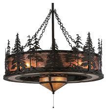 meyda tiffany tall pines rustic oil rubbed bronze finish casa contessatm darkelier ceiling fan light kit