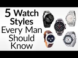 5 watch styles every man should know men s guide to types of click here to watch the video man s guide to field aviator dress dive racing watches
