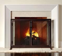 Industrial Fireplace Open Door Screen