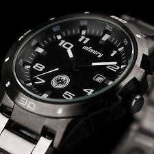black stainless steel watch infantry mens quartz wrist watch date gunmetal black stainless steel sport army