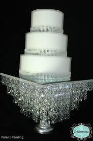 crystal wedding cake stand photo 3