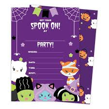 halloween invitations cards halloween girls 2 happy birthday invitations invite cards 25 count with envelopes seal stickers vinyl girls kids party