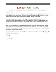 How To Do A Cover Letter For A Resume Heavy Equipment Operator Cover Letter Sample Cover Letters 78
