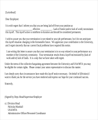 Layoff Letter Template Authorization Letter Pdf ~ Layoff Notice Template