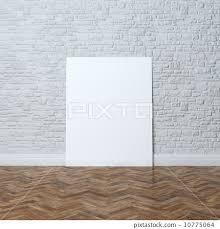 white brick wall interior design with
