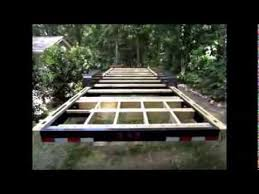 Small Picture Scratch Pad Tiny House Trailer Prep Foundation Framing YouTube