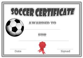 Free Soccer Certificate Templates Soccer Award Certificates Activity Shelter