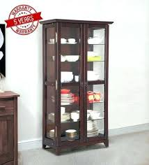 display cabinet glass in ebony finish by furniture sliding door shot case ikea home improvement neighbor face ca