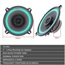 ROADSTAR Speaker Subwoofer Mobil HiFi 5 Inch 100W 1 PCS - VO-502 -  Black/Blue - JakartaNotebook.com
