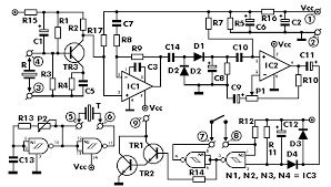 ultrasonic sensor circuit ultrasonic sensor circuit diagram