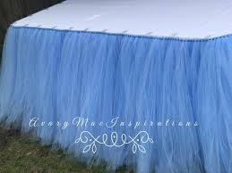 Light Blue Table Skirt Tulle Table Skirt Any Color Tutu Table Skirt Baby Blue