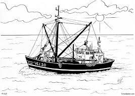 Kleurplaat Boot Vissersboot Afb 5456 Images