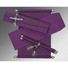 scroll invitations scroll wedding cards 123weddingcards Handmade Wedding Cards In Chennai purple handmade silk wedding invitations sc 5001k 123weddingcards Easy Handmade Wedding Cards