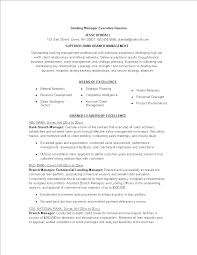 Banking Manager Executive Resume Templates At