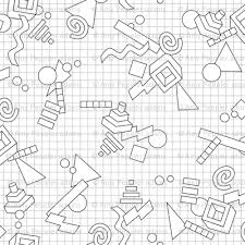 Geekometric Color Your Own Coloring Book 80s Retro Geometric