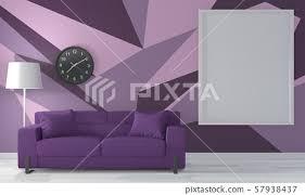 purple room geometric wall art paint