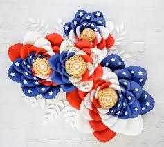 Pattern For Paper Flower American Flag Paper Flower Template