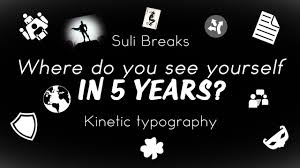 where do you see yourself in years kinetic typography where do you see yourself in 5 years kinetic typography