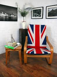 union jack cotton cover to fit ikea poang chair