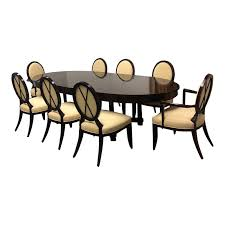 barbara barry oval dining table 8 chairs for baker set of 9 original 20 000 00 design plus gallery