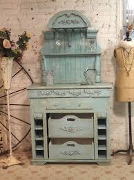 farmhouse chic furniture. Painted Cottage Chic Shabby Aqua Romantic French Farmhouse Wine Furniture