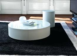 modern round coffee table white creative of