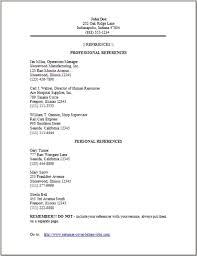 Sample Reference List For Resume Resume References Cite