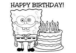 Happy Birthday Coloring Picture Free Printable Happy Birthday
