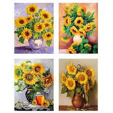 Diamond Embroidery Sunflowers <b>Needlework 5D DIY Diamond</b> ...