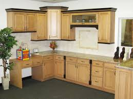 kitchen design cabinets traditional light: beautiful kitchen cabinet with light brown maple and grey floor