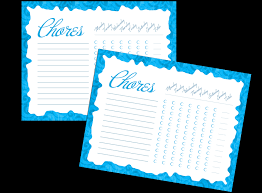 Blank Chore Chart For Adults Printable Blank Chore Chart Fellowes